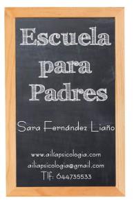 Ailía pizarra escuela para padres